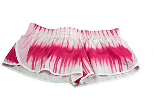 """Nike Womens Dri-Fit 3"""" Dash Printed Running Shorts Pink X-Large Pink"""