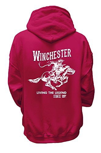 official-winchester-womens-vintage-rider-classic-fleece-hoodie-large-fuschia