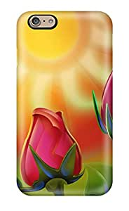 High Quality Shock Absorbing Case For Iphone 6-colorful Rose