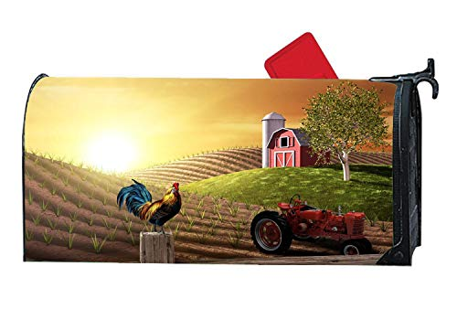 Personalized Magnetic Mailbox Cover, All Weather Vinyl, Decorative Mailbox Wrap with Animals Design, Standard 6.5
