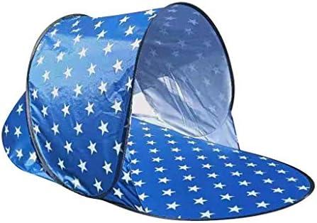 Strandmuschel Strand Zelt Schnell Öffnen Zelt Windschutz Sonnenschutz Anti-UV Automatisch Popup Wurf-Strandmuschel Beach, Babyzelt, Camping