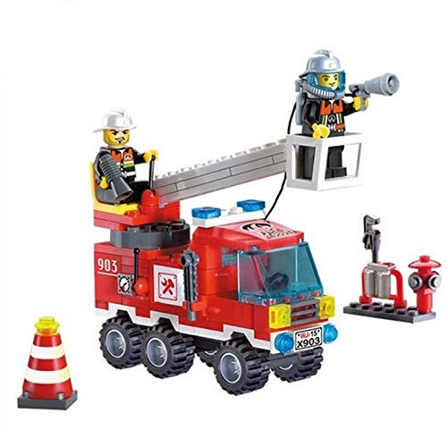- Sarah Store Model Building Kits - Different Combinations !! 130pcs/set Fire Fighting Truck DIY Building Blocks Educational Puzzle Toys Kids Birthday Gifts