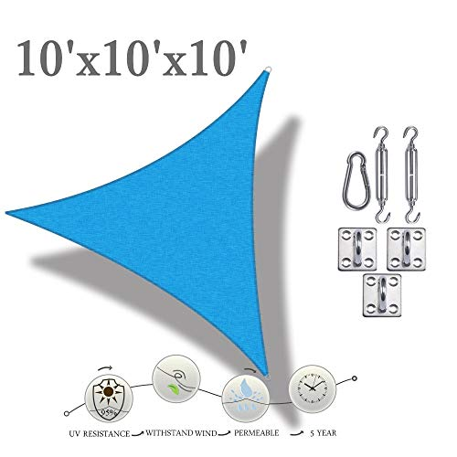 RainLeaf Right Triangle Sun Shade Sail, 16' x 16'x23', Terra, UV Block,Breathable, Vivid Color,Perfect Driveway, Swimming Pool, Patio, Backyards, Courtyards, Gardens