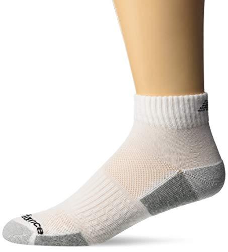 New Balance Men's Fitness Basics Ankle Socks (6 Pair), White, Size 9-12.5/Large