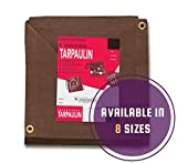 Tools & Hardware : CCS CHICAGO CANVAS & SUPPLY Brown Canvas Tarpaulin - Water and Mildew Resistant (8 feet x 10 feet)