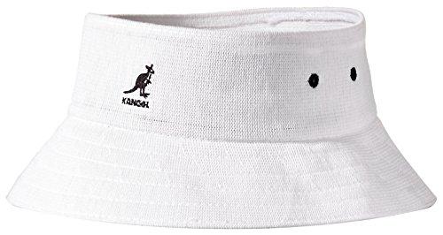 - Kangol Men's Bamboo Cut Off Bucket Hat Visor, White, M