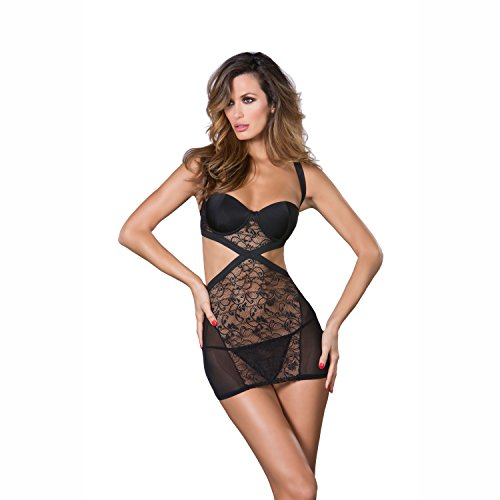 Noir Black Lace Cutout With Mesh Dress amp; Sides xpqUPZaw