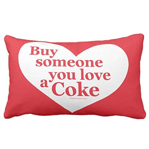 Coca Cola Pillow - alerie Sassoon Coca cola | Buy Someone You Love a Coke Throw Pillowcase Cover 13in x 21in