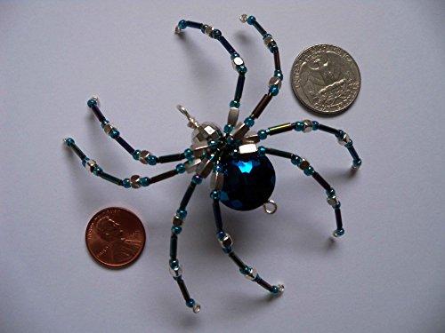 Metallic Beaded Spider Pendant