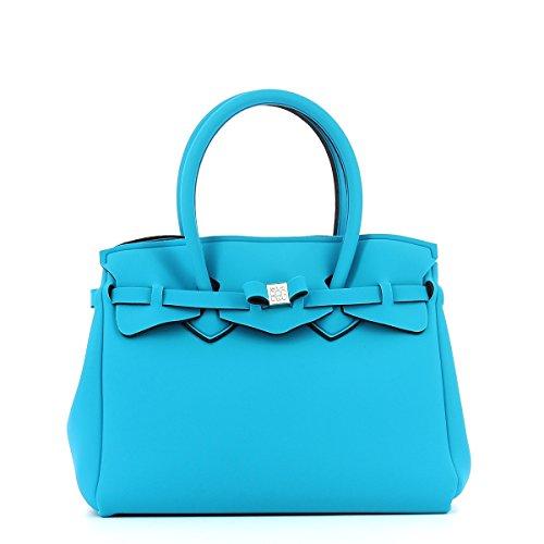 save my bag Miss, Borsa a Mano Donna, 34x29x18 cm (W x H x L) Blu (Peacock)