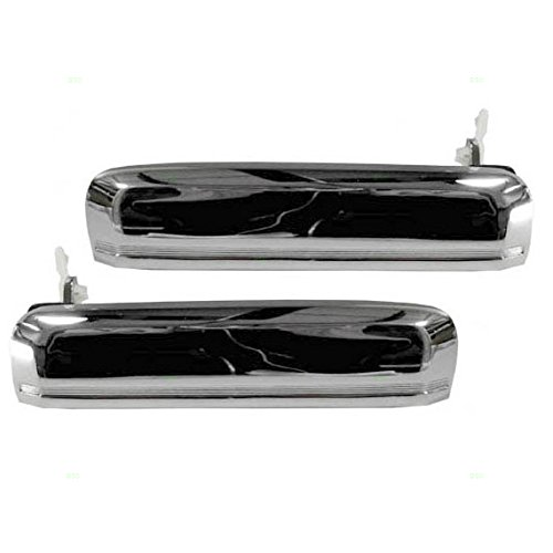 Driver and Passenger Outside Outer Chrome Door Handles Replacement for Nissan Pickup Truck 8060701A00 8060601A00 (Passenger Door Truck)
