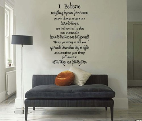 Marilyn Monroe Inspirational Quote Wall Sticker Decor I Believe