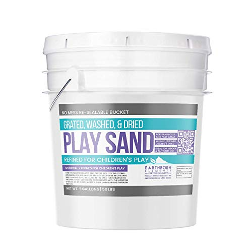 Play Sand, 5 Gallon Bucket by Earthborn Elements, Highest Quality, Building & Molding, Promotes Creativity, Sandbox & Play Areas, Indoor/Outdoor, Resealable Bucket (5 gallons) -