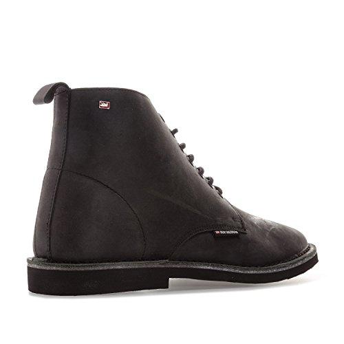 11 Larry Ben Ben Sherman Mens Sherman Black Leather Boots UK TUw8qv