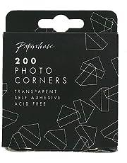 Transparent photo corners - pack of 200