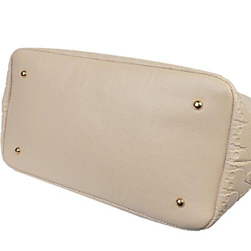 Handbags Purse with Purse Leather Top Clutch Skull Khaki Women Pu Devil Shopping Satchel Handle Bag PxgtcZE