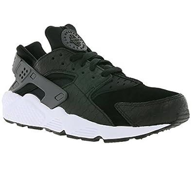 Nike Men NIKE AIR HUARACHE RUN PRM (black/white//dark grey) Size 10 US