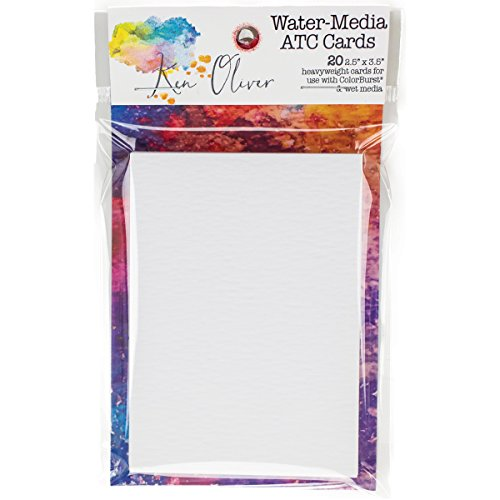 Canvas Corp Ken Oliver Water-Media ATC Cards 2.5