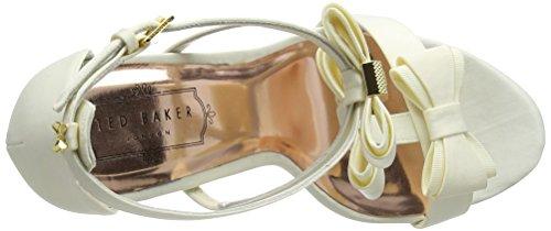 Ted Baker Women's Appolini Open-Toe Heels Off-white (Cream) 427ikcTJY