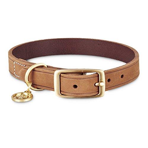 Bond & Co. Copper Suede Dog Collar, Medium