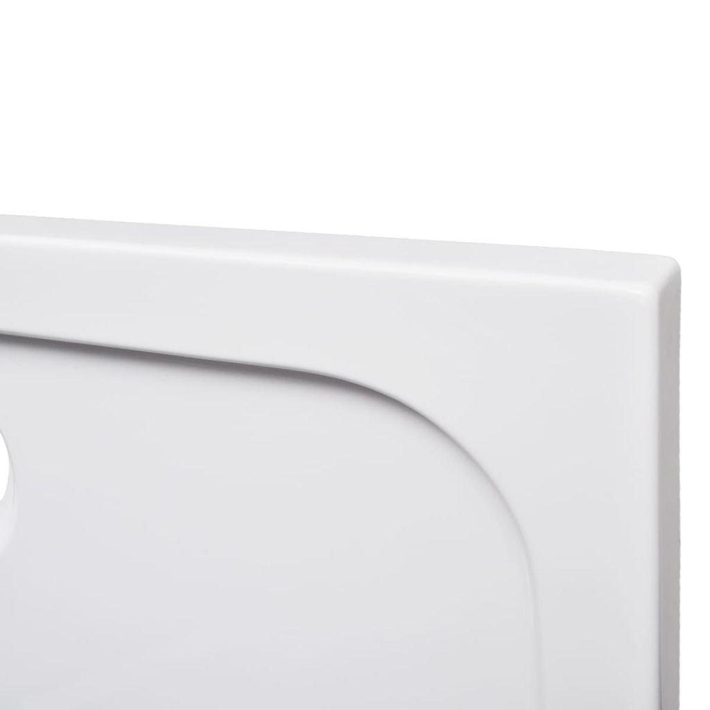 Festnight Piatto Doccia Bango Rettangolare in ABS Bianco 70 x 120 cm
