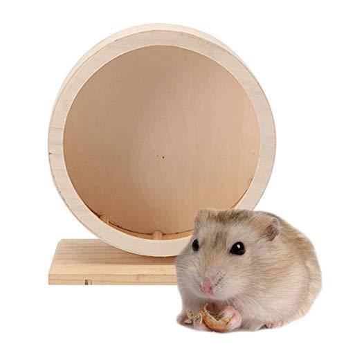 Gano Zen Hamster Mouse Running Hamster Wheel Small Pet Running Wheel Wood Jogging Hamster Mouse Running Exercise Wheel for Animal Pet Toy Pets Supplies 15x17.5cm
