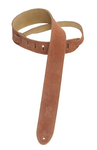 """Levy's Leathers 2"""" Suede Guitar Strap with Suede Backing - Adjustable from 36"""" to 52""""; Rust (MS12-RST)"""