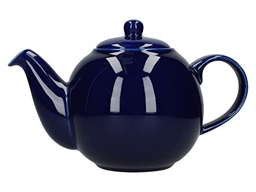 London Pottery Globe Teapot, Cobalt Blue, 6 Cup, Closed Box