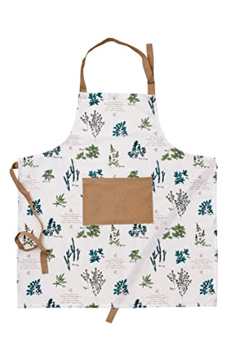 70% OFF CLEARANCE SALE - 100% Cotton Apron with an adjustable neck & visible centre pocket , 27.50 - inch by 31.50 - inch designed in France by Mayfair - Mayfair Center