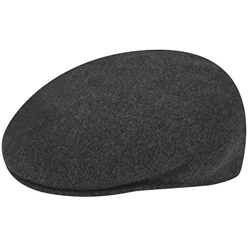 Kangol Men's Classic Wool 504 Cap, Our Most Iconic Shape, Dark Flannel -