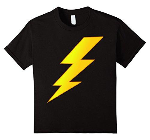 [Kids Lightning Bolt last minute Halloween costume shirt 8 Black] (Lightning Strike Costume)