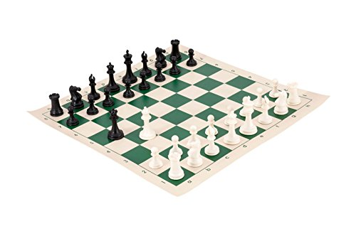 The Marshall Series Analysis Chess Combination - Black & Ivory - by US Chess (Staunton Deluxe Chessmen Set)