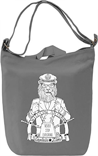 Captain lion Borsa Giornaliera Canvas Canvas Day Bag  100% Premium Cotton Canvas  DTG Printing 