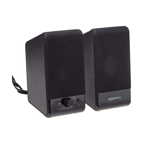 AmazonBasics Computer Speakers for Desktop or Laptop PC