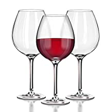 Unbreakable Red Wine glasses by TaZa - 100% Tritan Dishwasher-safe, shatterproof plastic wine glasses - Smooth Rims -Set of 4 (22oz Stemmed Red)