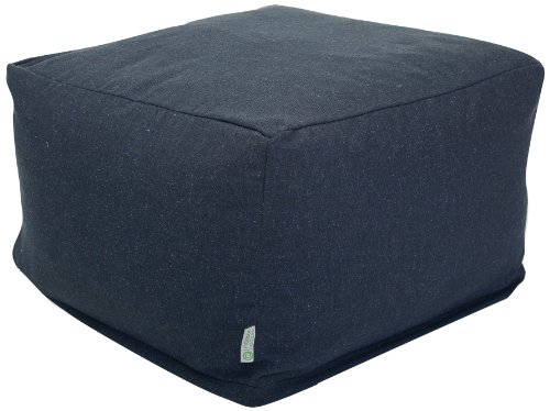 Majestic Home Goods Wales Ottoman, Large, Navy by Majestic Home Goods