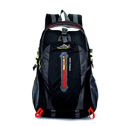 Price comparison product image NJ Backpack- Outdoor Mountaineering Bag Men and Women Shoulder Bag Waterproof Sports Bag 40L Leisure Travel Hiking Backpack (Color : Black)