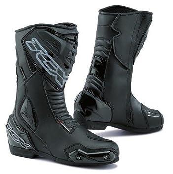 Available in Waterproof 8 WATERPROOF TCX Black S-SPORTOUR Motorcycle Racing Boots w// Toe Sliders