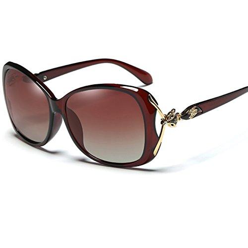 personnalité Lunettes de soleil Tea dirigent Color soleil polarisées lunettes soleil élégantes Lunettes color Couleur Tea de Mme de de de 8wdq7aE