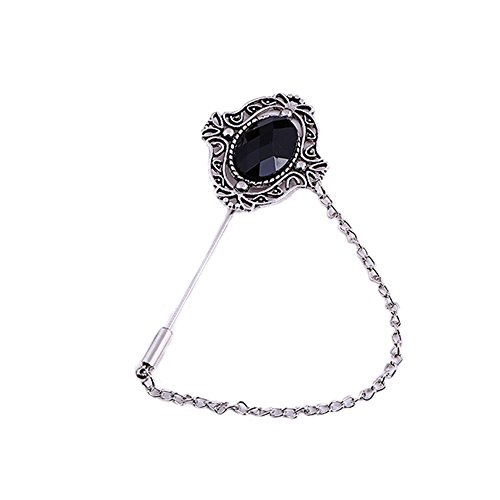 (MLQM Men Metal Brooch Pin Vintage Lapel Boutonniere Stick for Suit)