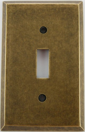 Classic Accents Aged (Matte) Antique Brass 1 Gang Toggle Switch Wall Plate