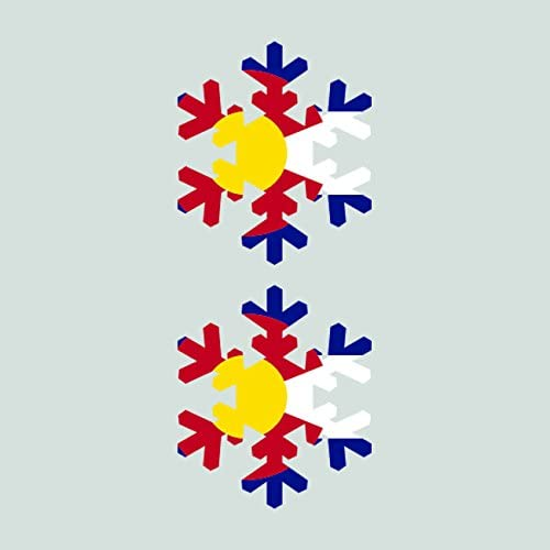 Two Pack Colorado Snowflake Sticker FA Graphix Vinyl Decal CO Snow Flake Snowboard Skiing skii