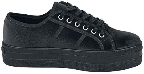 10 Negro Zapatillas Terciopelo Para Basket negro Victoria Mujer Xzq00x