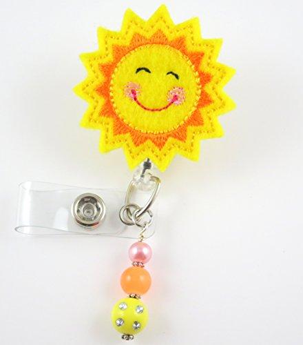 Sunshine - Nurse Badge Reel - Retractable ID Badge Holder - Nurse Badge - Badge Clip - Badge Reels - Pediatric - RN - Name Badge Holder