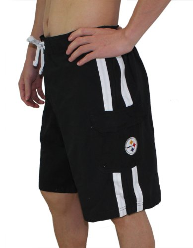 Pittsburgh Steelers Mens Athletic Sports Shorts with Swim Lining from G-III sports