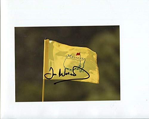 IAN WOOSNAM HAND SIGNED 5x7 COLOR PHOTO+COA GOLF MASTERS FLAG - Autographed Golf Pin Flags