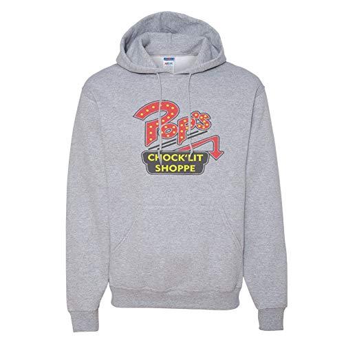 Pop's Chock'Lit Shoppe Vintage Style Hoodie (Medium, Lt. Grey) ()