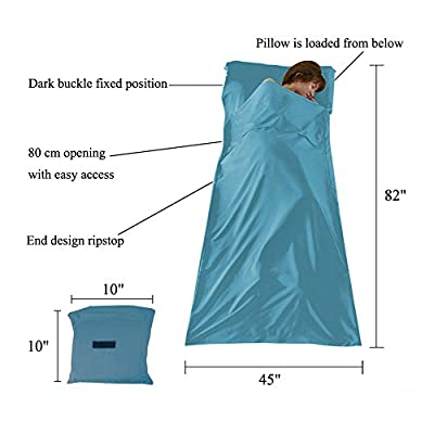 WELOVE Cotton Sleeping Bag Liner Camping Sheets Sleep Sack Camping Travel Bed with Bottom Open Travel Sheet Sleep Sack for Travel, Youth Hostels, Picnic, Planes, Trains