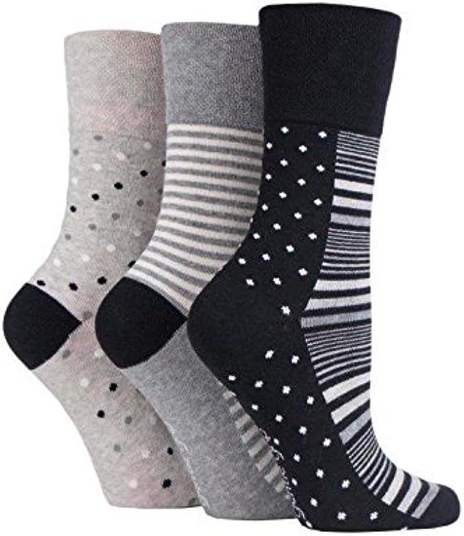 6 pares de calcetines de Sock Shop Everyday Gentle Grip para damas EUR 37-42 UK 4-8 Con panal suave top