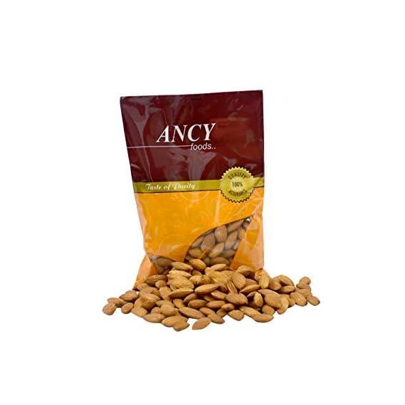 Ancy 100% Natural Quality Raw Almonds/Badam Dryfruits 500g (2x250g)